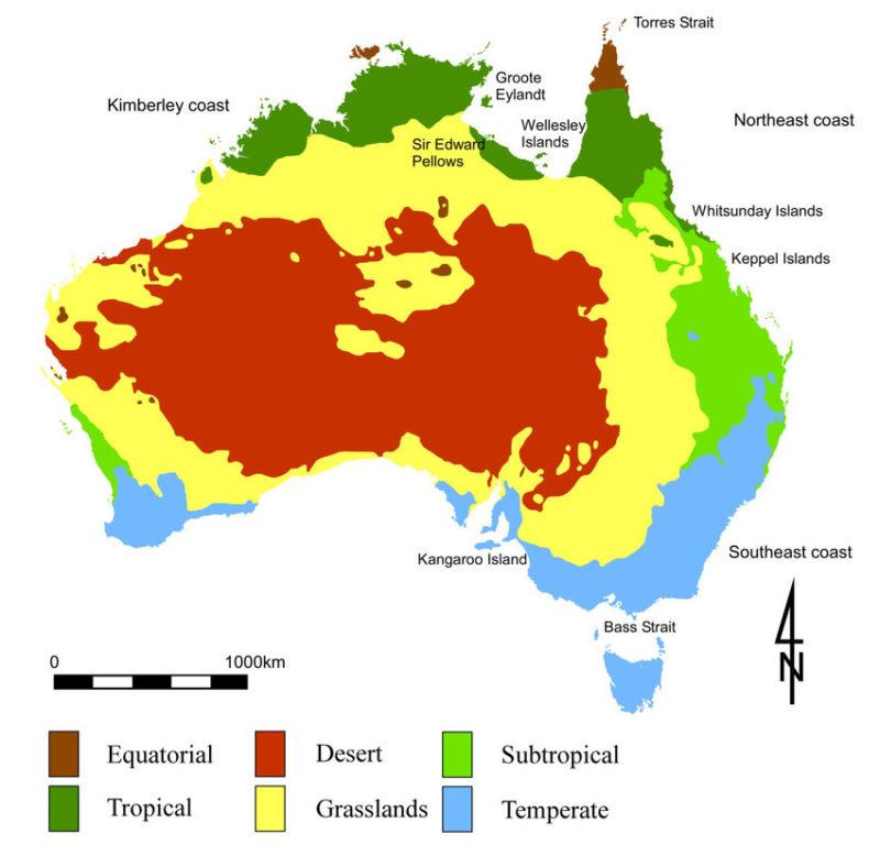 El clima en Australia